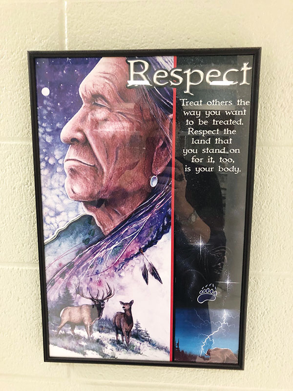 Poster displayed in hallway at Fr. Robinson