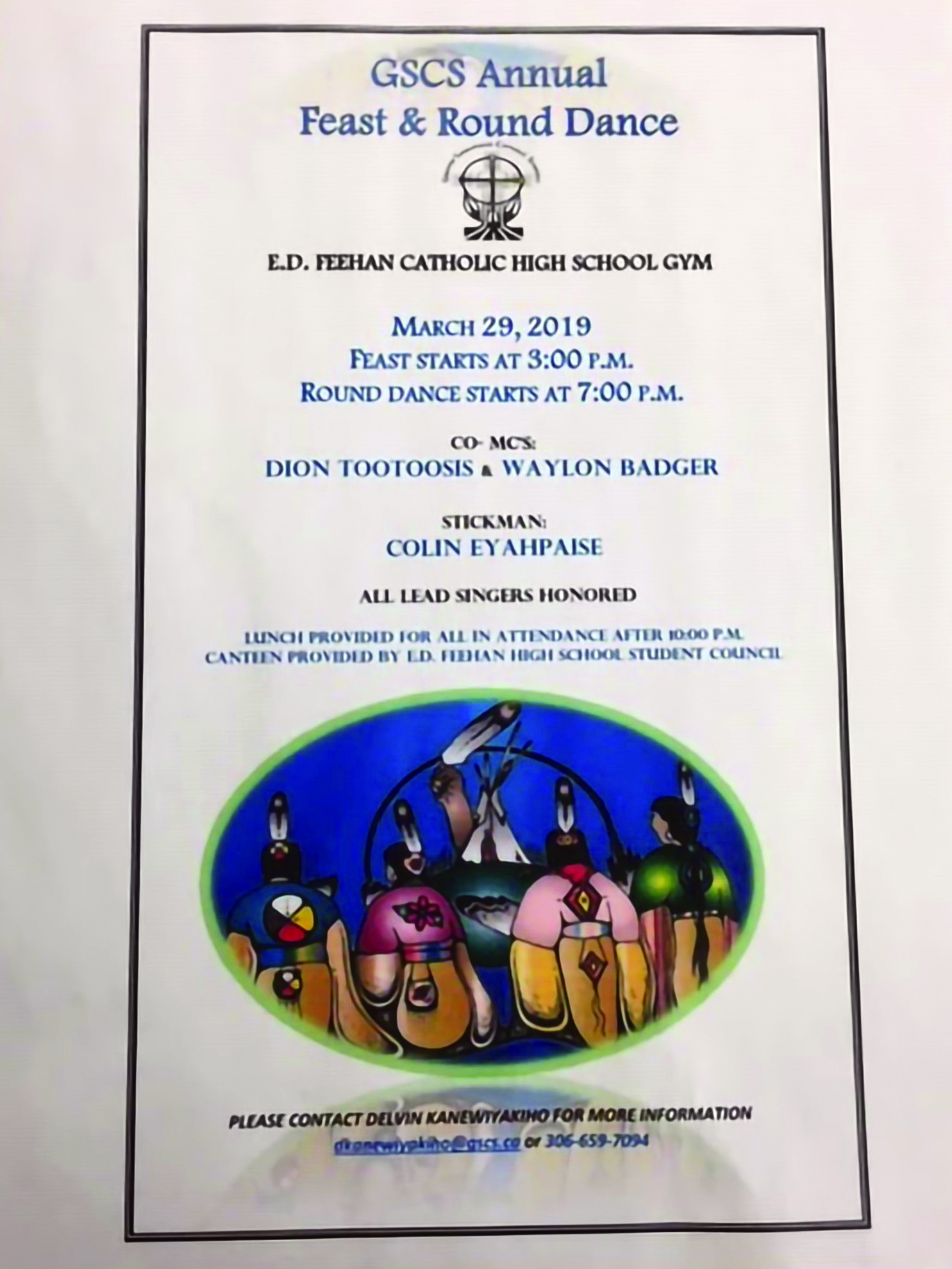 The school district hosts an Indigenous feast and round dance