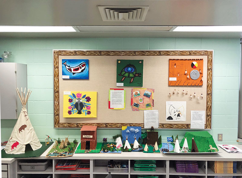Artwork created by Father Robinson students