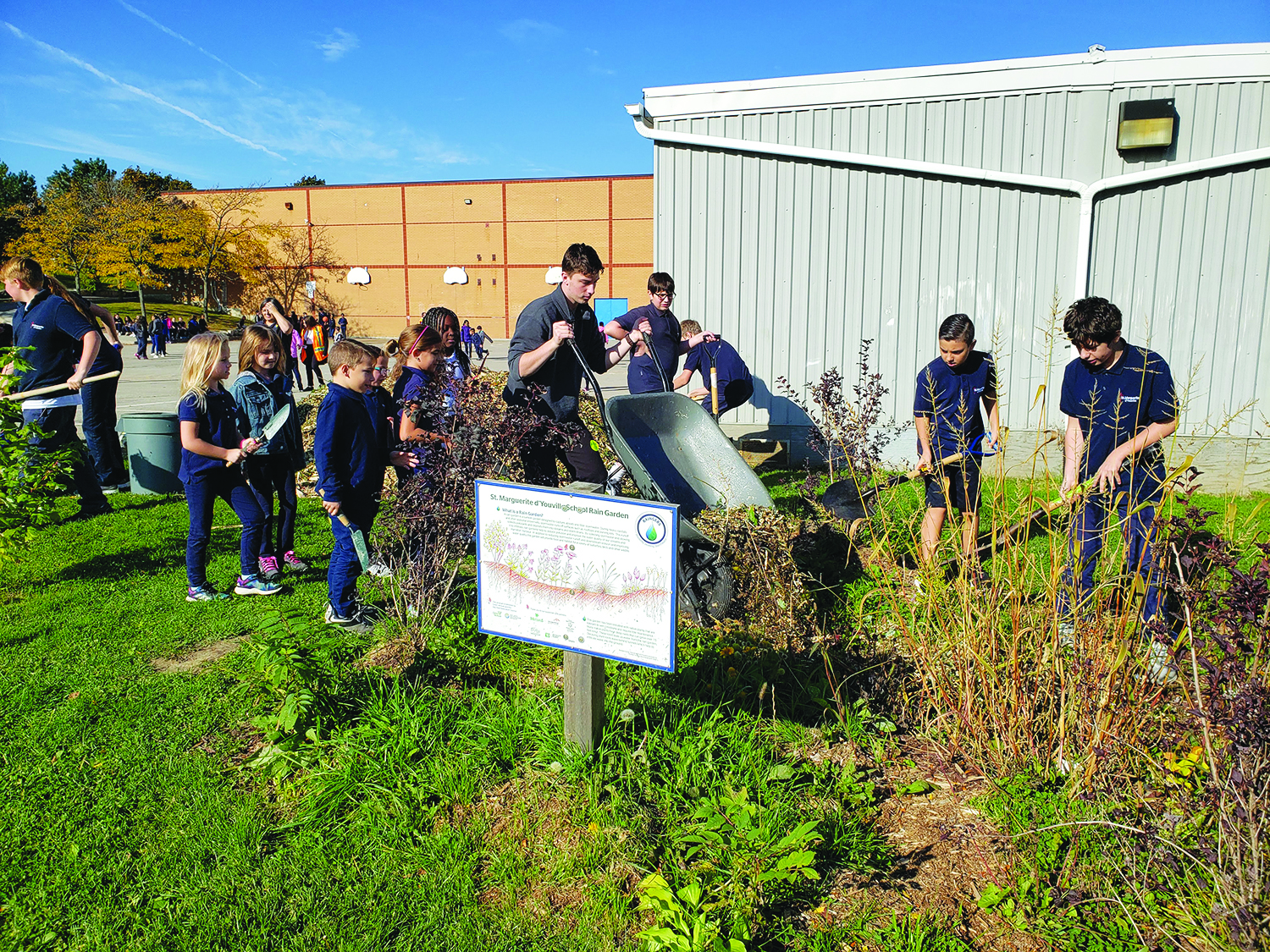 All-school community garden