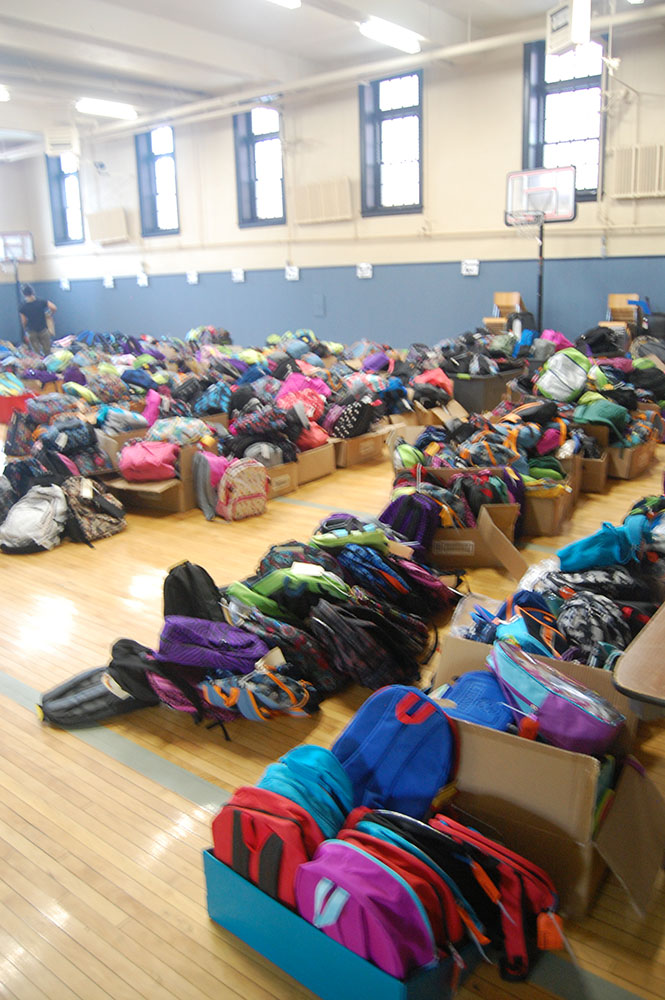 Hope House backpacks for schoolchildren