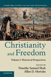 Christianity and Freedom, volume 1, Historical Perspectives; volume 2, Contemporary Perspectives