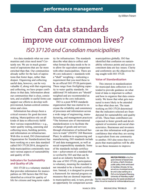 Can Data Standards Improve Our Common Lives?