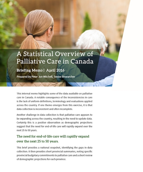 A Statistical Overview of Palliative Care in Canada