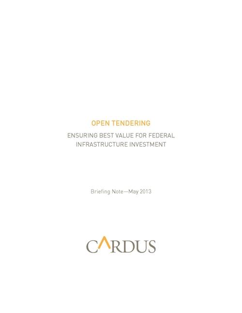 Open Tendering Briefing Note