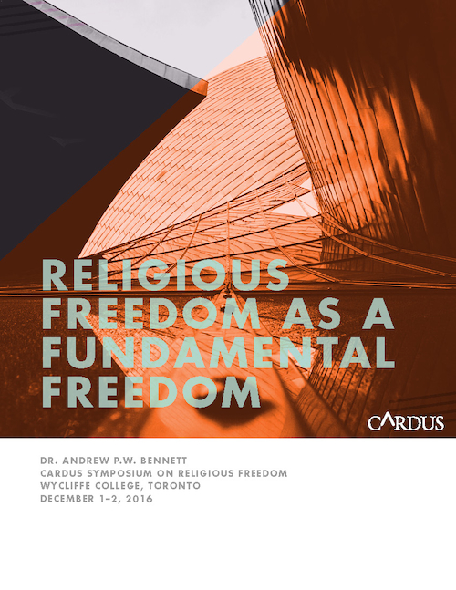 Religious Freedom as a Fundamental Freedom