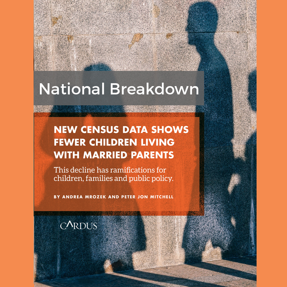 New Census Data Shows Fewer Children Living With Married Parents: National Breakdown