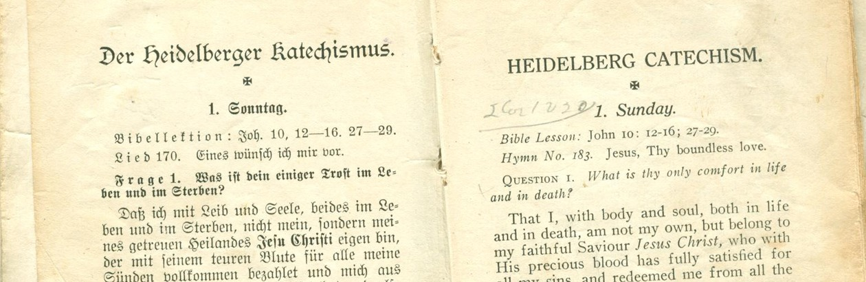 Taking the Heidelberg Catechism to Work