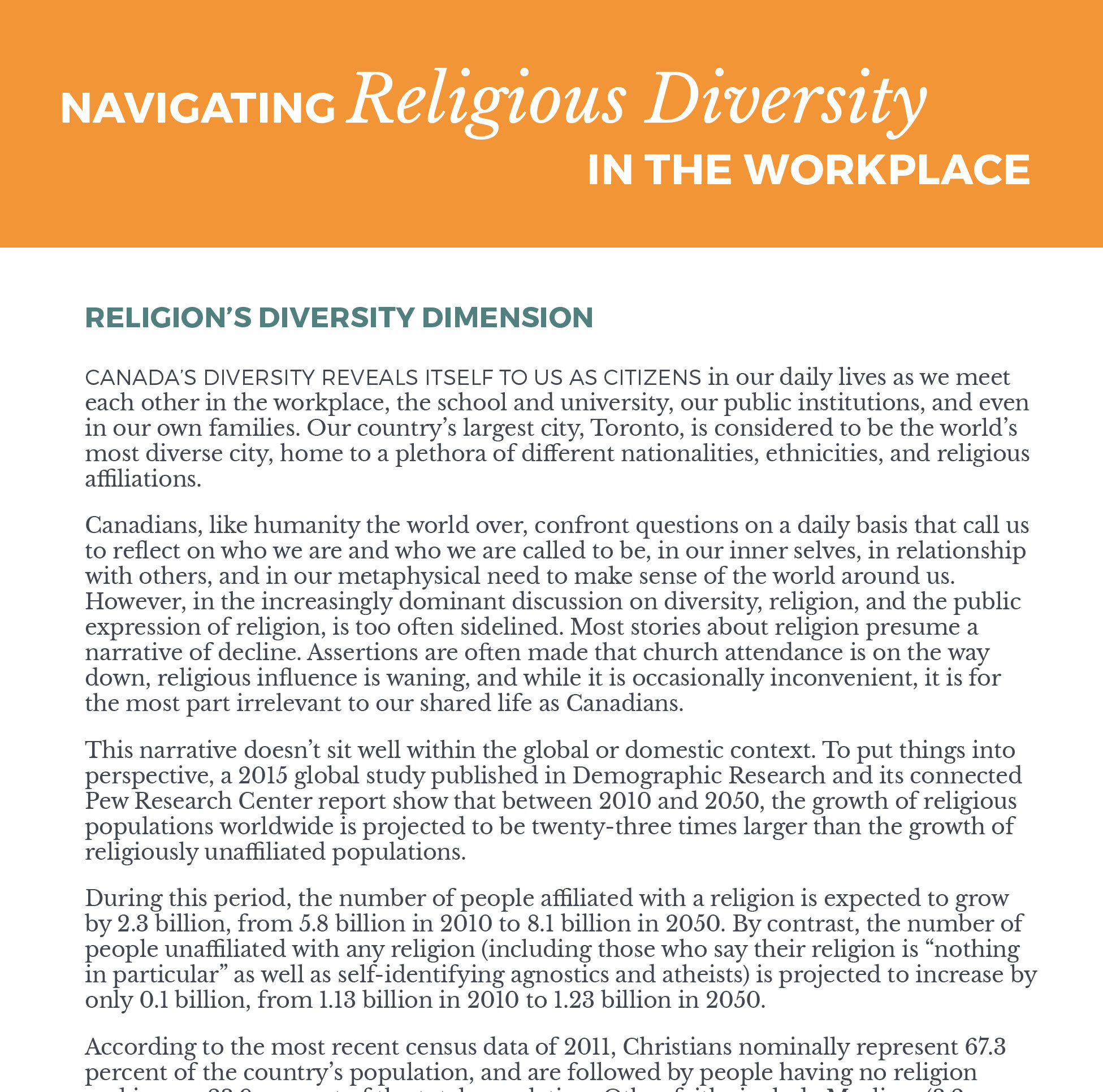 Navigating Religious Diversity in the Workplace