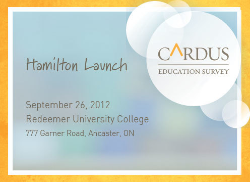 Cardus Education Survey Hamilton Launch
