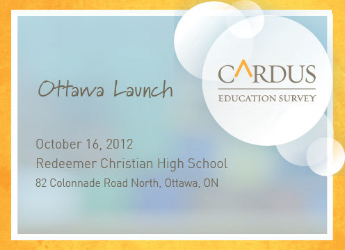 Cardus Education Survey Ottawa Launch