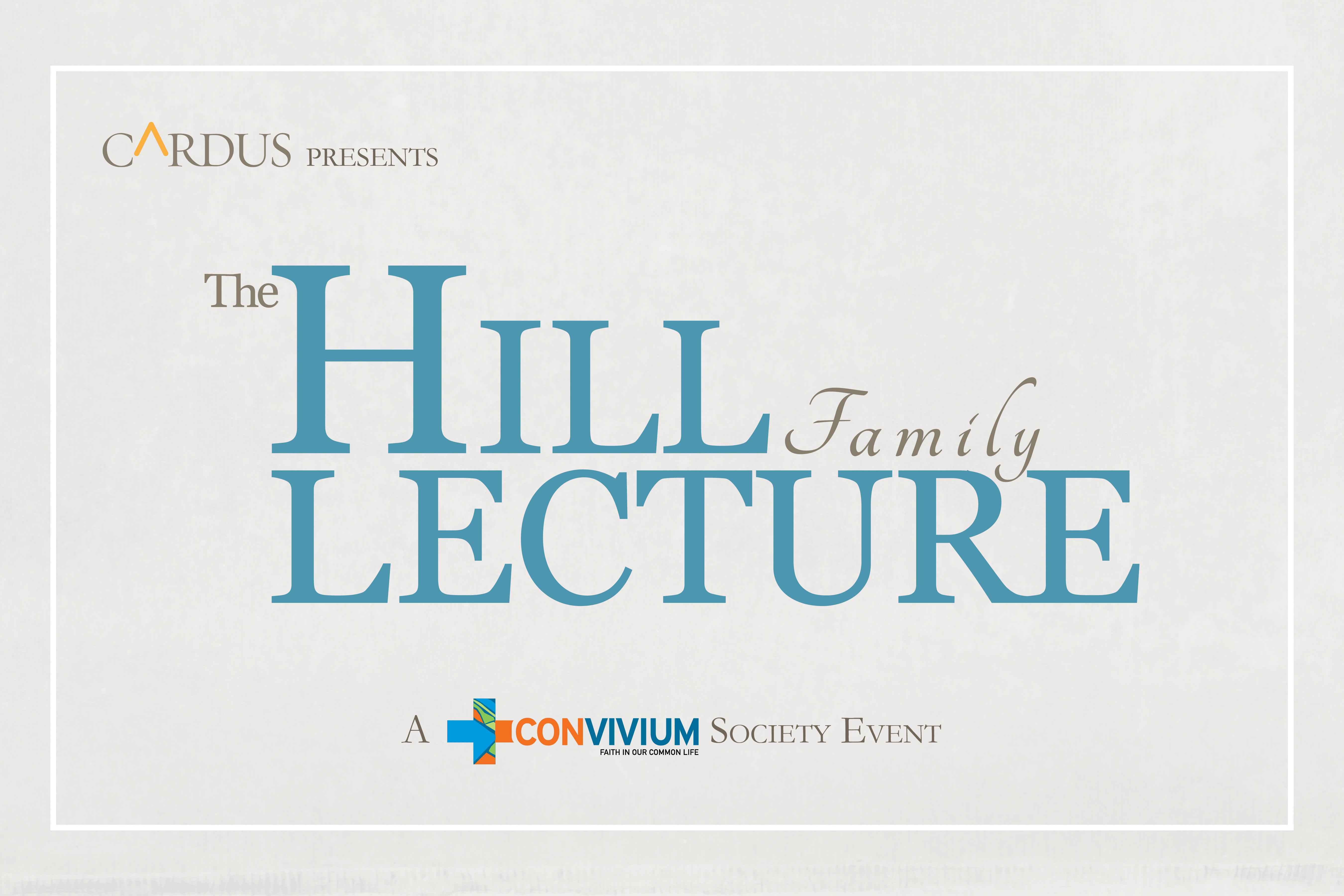 2012 Hill Lecture