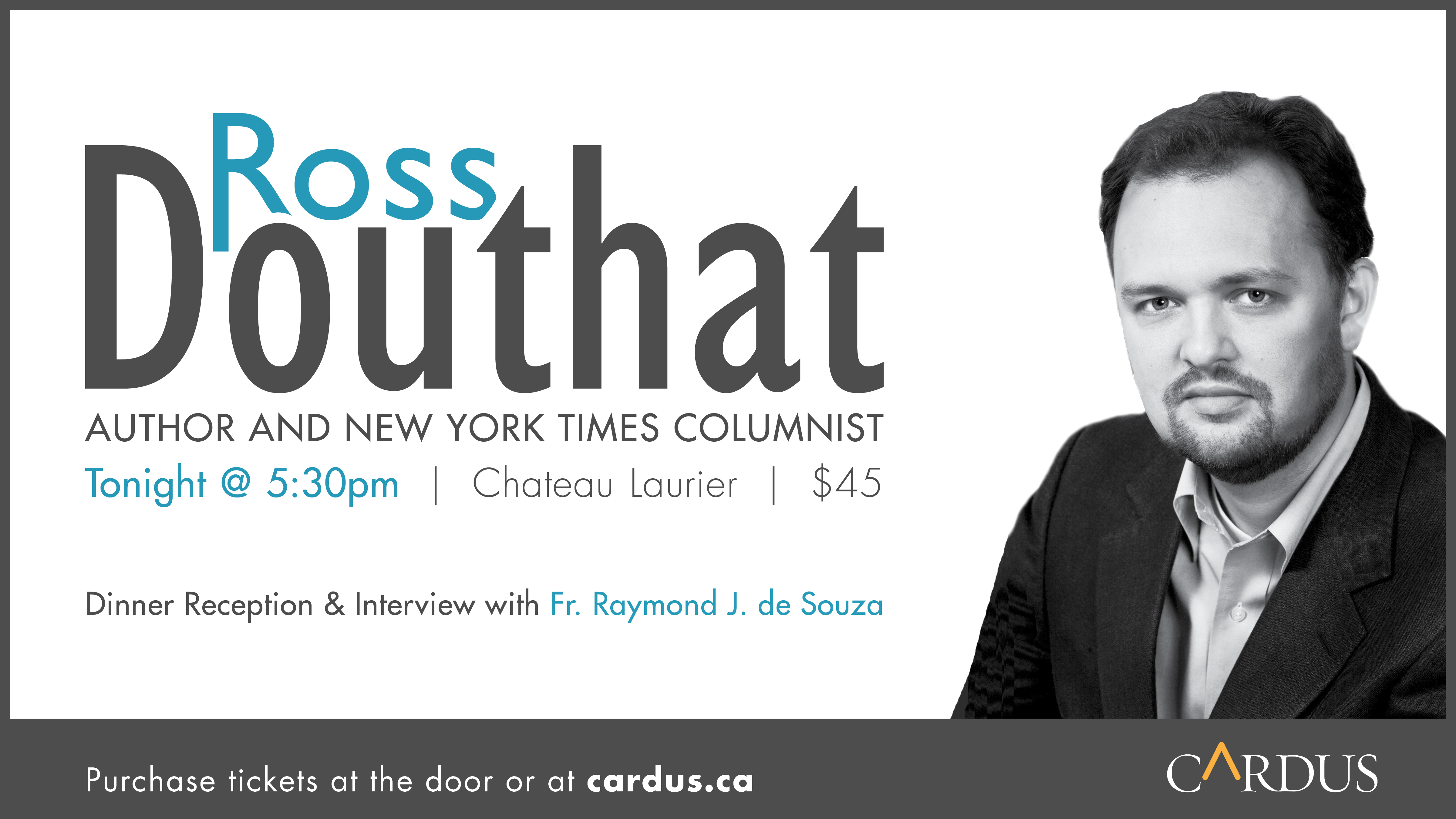 The Hill Family Lecture Series: Ross Douthat Live in Ottawa