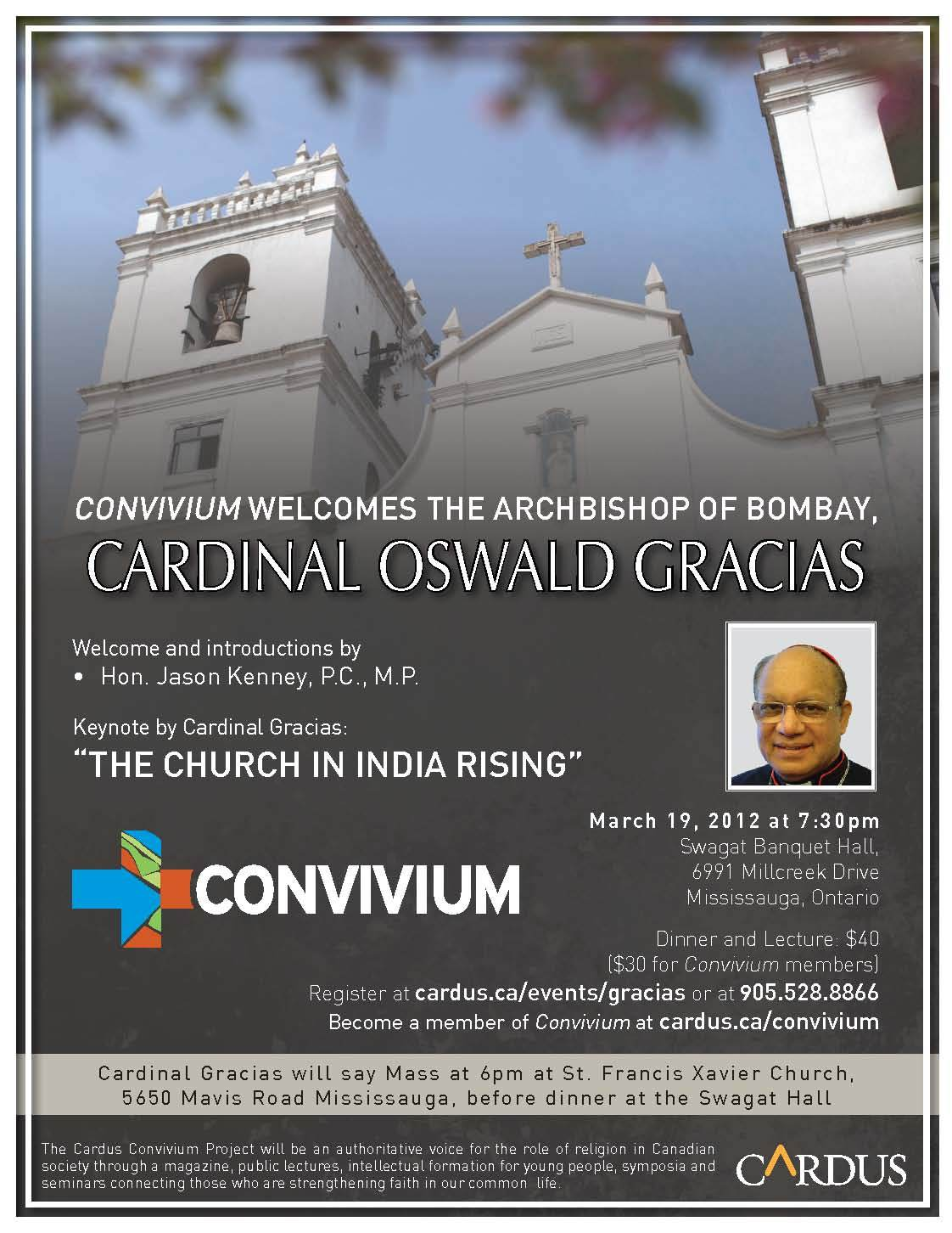 Convivium Welcomes the Archbishop of Bombay