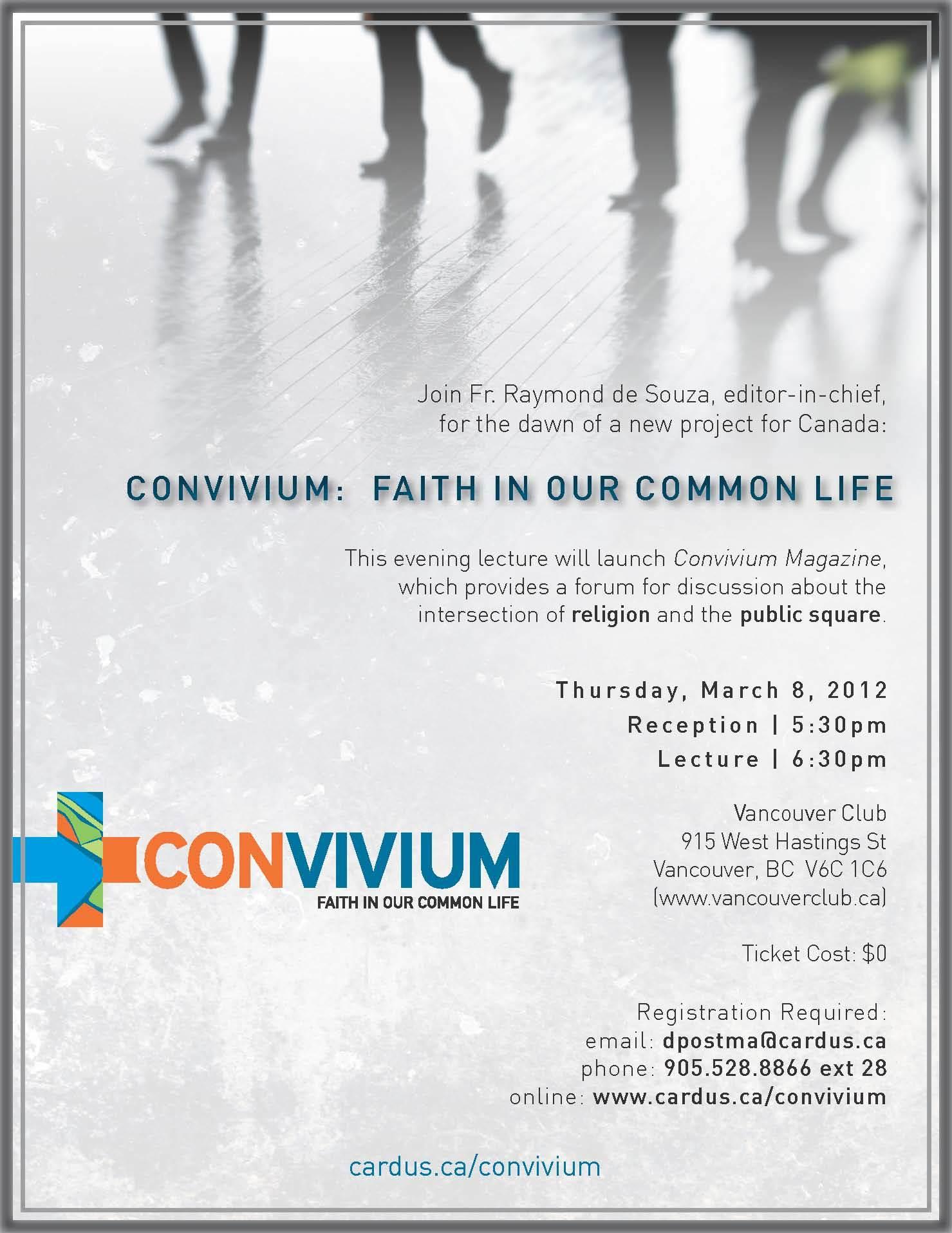Vancouver Convivium Launch